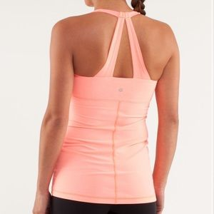 Lululemon scoop me up pop orange racerback tank 10